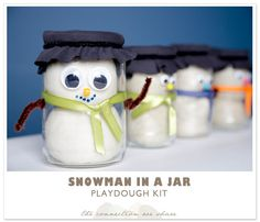 Snowman In A Jar Playdough Kit – Gifts In A Jar Ideas » The Connection We Share
