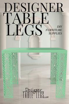 Luxor Diamond Mint Green Table Legs - www.designertablelegs.com - DIY Furniture Supplies for Tables Desks - Interior Design Ikea Hacks