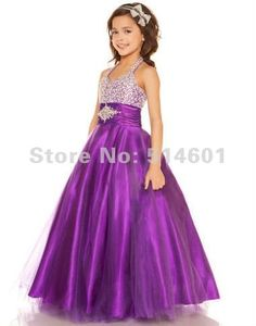 Girls KID Collection Lacey Party Dress 6 Purple (kid 1216) Kid ...
