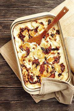 Aartappel-en-hamgebak   Potato and ham bake YUM