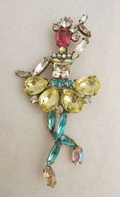 Stunning Very Large LILIEN Czech Ballerina Pin Brooch  #Jewelry #Deal #Fashion $old