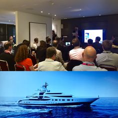 Full House at Crestron for 'Contemporary Trends' workshop - what are the main trends across the various different industries? #SYDWeek @superyachtevent
