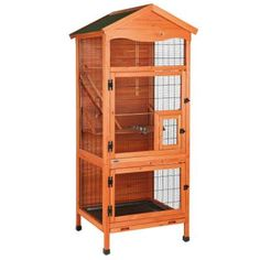 TRIXIE 30.5 in. L x 30.5 in. W x 70.75 in. H Aviary Large Wooden Bird House