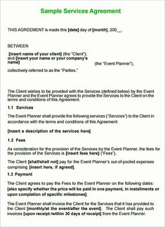 Free event planner service contract template agreement agreements and contracts templates con general for product Event Planning Template, Event Planning Checklist, Event Planning Business, Service Level Agreement, Contract Agreement, Business Proposal Template, Proposal Templates, Contractor Contract, Wedding Photography Contract