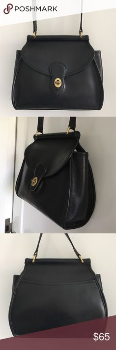 """Vintage Coach Legacy Black Crossbody Bag Vintage Coach Legacy Black Crossbody Bag. Serial # 0952-202. Measusre 10"""" wide and 9"""" tall. Strap is 44"""" long. This is a rare model. Please look at pictures for better reference. Happy shopping! Coach Bags Crossbody Bags"""