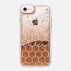 iPhone 7 Case White Honeycomb Transparent Pattern