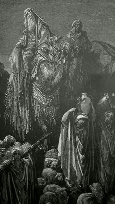 Phillip Medhurst presents detail 029/241 Bible Gustave Doré Jacob Goeth Into Egypt Genesis 45:5