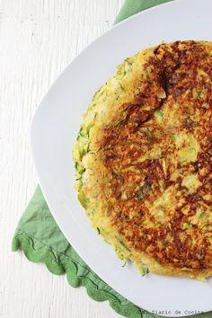 Tortilla de zapallo italiano Dried Fruit, Hummus, Quiche, Zucchini, Tortillas, Pizza, Yummy Food, Cheese, Meals