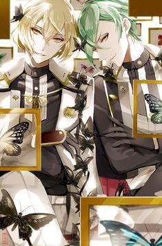 """ヨモノさんのツイート: """"『 標 本 』 源氏兄弟のなんとも言えない雰囲気が好き。 綺麗なものは何でも保管したくなる 久しぶりのイラスト 良きリハビリになった✧︎*。… """""""
