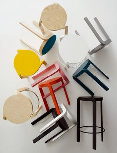 'spin' stool by staffan holm for swedese