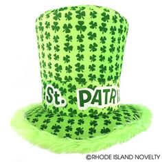 Give a proper shamrock salute to your fellow Irish men and women with our St.  Patrick s Top Hat with Fur. It s the perfect way to add ... 6aaa223323ed