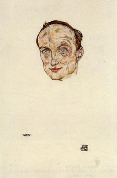 pubertad: Egon Schiele, Head of Dr. Fritsch, 1917✖️Egon Shiele ✖️More Pins Like This At FOSTERGINGER @ Pinterest✖️