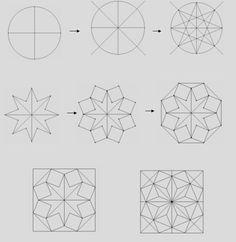 IDD H ritage du monde arabe math matiques g om trie Islamic Art, Pattern Drawing, Geometric Design Art, Islamic Art Calligraphy, Geometric Drawing, Mandala Design Art, Geometric Patterns Drawing, Graph Paper Art, Islamic Artwork