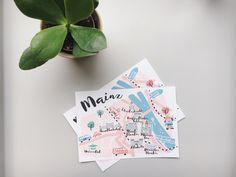 Bei uns: Postkarten aus Mainz.