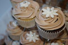 Taupe/Ivory Wedding Cupcakes