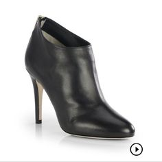 Authentic  Jimmy Choo! Jimmy Choo Mendez leather booties. Like new! Currently in stores! No box or shoe bag Jimmy Choo Shoes Ankle Boots & Booties