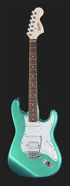 Fender Squier Affinity Strat HSS RG - Thomann - colour: Race Green www. Fender Squier Affinity, Cheap Guitars, Fender Guitars, Body Shapes, Colour, Green, Beautiful, Bass Guitars, Guitars