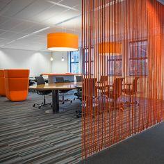 CELL stripfelt roomdividers l design: lamaconcept.nl l client: Sogeti Nederland l architect: MVINTBRO l 2013