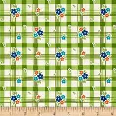 Riley Blake Road Trip Tablecloth Green from @fabricdotcom  Designed by Kelly Panacci for Riley Blake Designs, this cotton print collection features lovely retro travel themed prints. Perfect for quilting, apparel, and home decor accents. Colors include green, cream, shades of blue, and burnt orange.