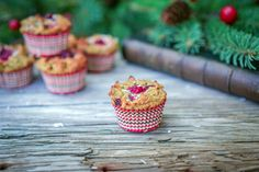 Make these easy and festive gluten free, wheat free, and grain free muffins for your next holiday party. They're made with coconut flour, coconut oil and maple syrup so they're very allergy friendly in the fact that it's all dairy free and nut free! Coconut Flour Muffins, Coconut Flour Recipes, Muffin Recipes, Gluten Free Recipes, Bread Recipes, Coconut Oil, Keto Recipes, Paleo Chips, Frozen Cranberries