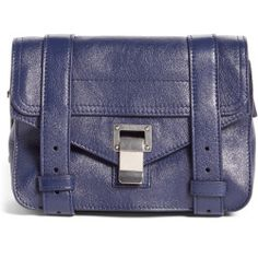 sale Proenza Schouler 'Mini Ps1' Lambskin Leather Satchel - Blue