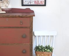 Painted and Stained Furniture Makeover | Salvaged Inspirations