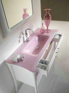 Pink bathroom sink/vanity