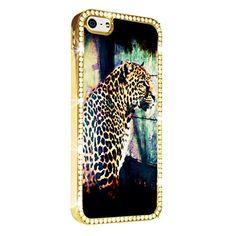 Leopard Art iPhone 5/5S Case Cover Diamond Crystal Rhinestone Bling Hard Gold Case Cover Protector PAZATO http://www.amazon.com/dp/B00NSDVXEI/ref=cm_sw_r_pi_dp_3uziub0T7P52P