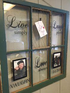 Vintage Window Six Pane LiveLaughLove by VaughnCustomCreation