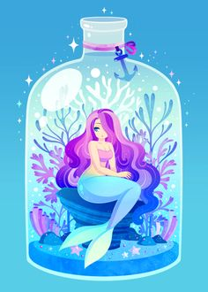 Mermaid Art by Brogan Coral Arte Coral, Coral Art, Mermaid Artwork, Mermaid Drawings, Mermaid Illustration, Illustration Art, Fantasy Creatures, Mythical Creatures, Mermaid Wallpapers