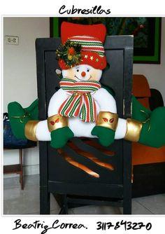 Visita nuestro centro de capacitacion virtual deMANUALIDADES: www.elrincondeanamaria.com/           Tutorial de cubresillas MAMA NOEL   ...