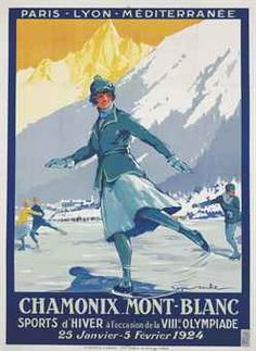 old advert for Chamonix city.