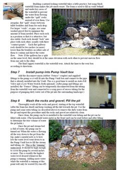 Lighted Natural Pondless Waterfall Landscaping Ideas Pinterest
