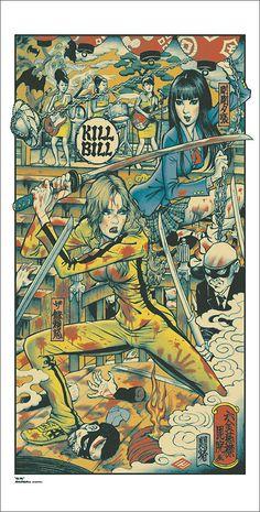 Mondo poster of Kill Bill Part I by Rockin' Jelly Bean