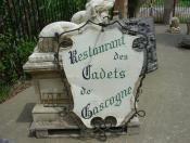 Antique French Restaraunt Sign