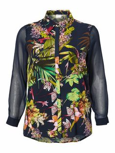 Jungle fever! Dare to wear this cool jungle printed shirt from JUNAROSE! #junarose #jungle #print #shirt #fashion #plussize
