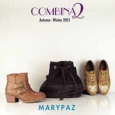 COMBINA2: 1 bolso xa 2 zapatos <3  Dos estilos diferentes ... ¿Con cuál te quedas ?  ►►► AHORA tienes hasta un 30% dto. en artículos seleccionados en nuestra amplia red de tiendas y en nuestra tienda online  #combina2 #streetstyle   Ficha tu favorito en > http://www.marypaz.com/
