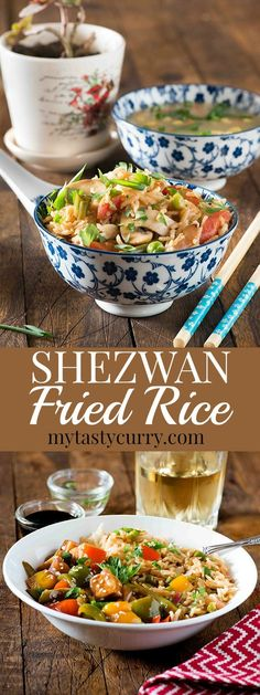 Indo chinese Schezwan fried rice is a favourite at home. It's quick, It's spicy and it's tasty and ready in 20 minutes. All you need is lots of vegetables and cooked rice for making this schezwan fried rice recipe. For me making such dishes is always more