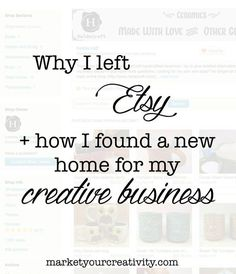#Etsy alternatives and #Shopify review + options for where to sell online