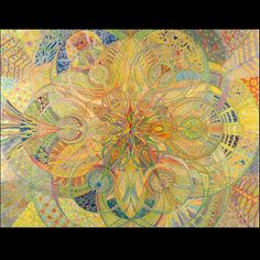 Sacred Geometry Fine Art Print Mandala Spiritual Art Colored Pencil Art Geometric Art Psychedelic Art
