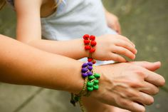 Polymer Clay Beaded Bracelets-and other great bracelet ideas and tutes.  GreenEyedMonster blog