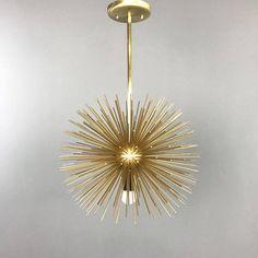 Urchin Pendant Chandelier | Lighting Midcentury Modern Sputnik | UL Listed & 3-Bulb Pink Caged Urchin Pendant Lighting by DuttonBrown on Etsy ... azcodes.com