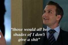 Harvey Specter, yet another one of his brilliant lines!