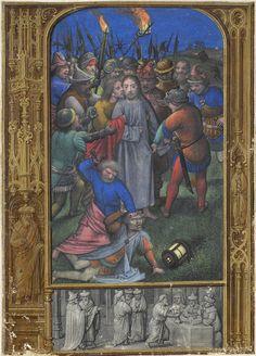 Arrest of Christ; Hennessy Book of Hours - miniaturist: Simon Benning - Flanders, 1530-1540