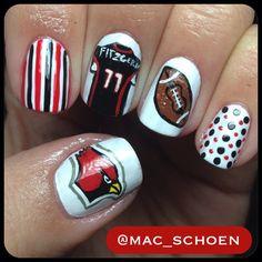 Arizona Cardinals By Mac Schoen Nail Nails Nailart Football Nfl