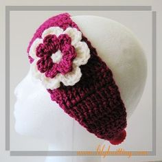 PATTERN – Super Easy Crocheted Headband — Headband 16 « Lilyknitting – Patterns and Crochet