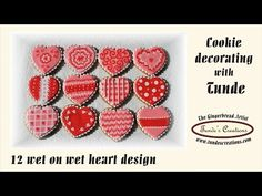 12 different heart designs with wet on wet technique - YouTube