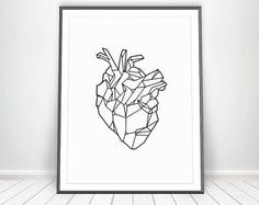 Anatomical Heart Art • Anatomy Art Human Heart Anatomy Print Medicine Anatomy Poster Medical Prints Medical Art Geometric Art Anatomical Art