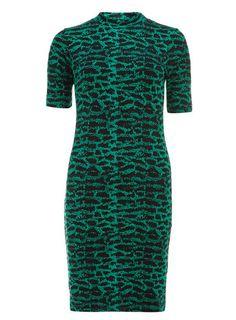 Ruby Rocks Green Batik Tube Dress