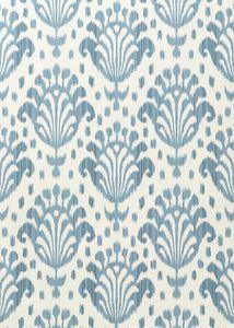 :: Light Blue Ikat Fan Wallpaper ::